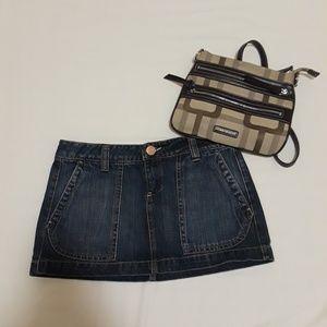 Low rise Demin mini skirt
